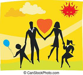 familia , parque, jugar juntos