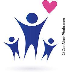 familia , salud, comunidad, iconos