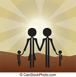 familia , santo, cruz