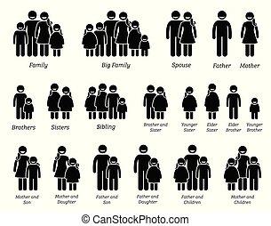 Familia y gente íconos.