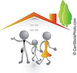Familia y nuevo logo de la casa