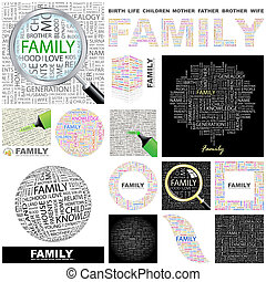 family., concepto, illustration.