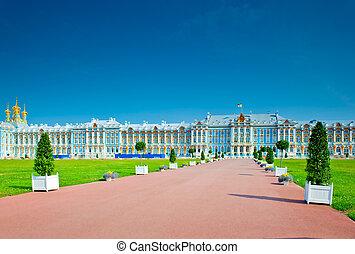famoso, s., catherine, petersburg, palacio