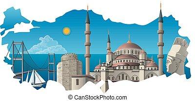 famoso, señales, turco
