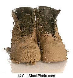 fangoso, trabaje botas