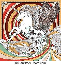 fantástico, unicornio