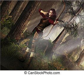 fantasía, arquero