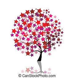 Fantasía de árbol estrellado