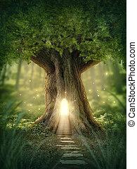 Fantasía en la casa del árbol