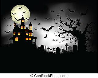 fantasmal, halloween, plano de fondo