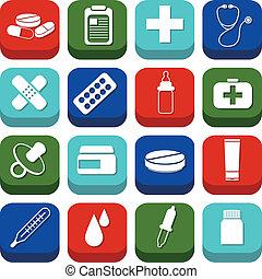 farmacia, iconos