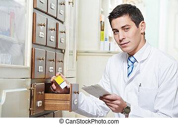Farmacia química en la farmacia