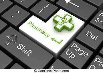 farmacia, tecla de ingreso