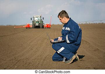 Farmer calcula