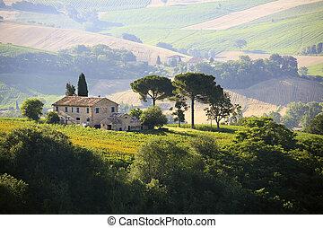 Farmhouse en el campo italiano