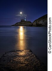 Faros de luz de luna