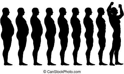 Fat a encajar antes de que el peso de la dieta pierda éxito