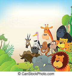fauna, animales, plano de fondo