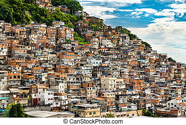 favela, janeiro, cantagalo, brasil, río, de