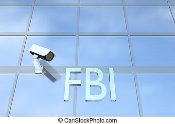fbi, concepto, oficina