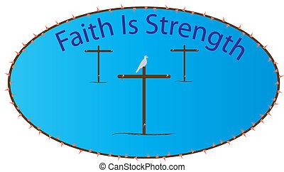 fe, fuerza