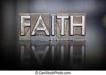 fe, texto impreso