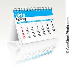 Febrero 2014 calendario de escritorio