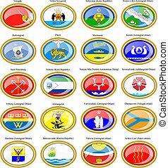 federal, district)., ruso, banderas, (northwestern, ciudades