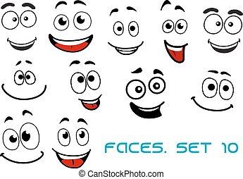 Felices emociones en caricaturas