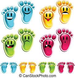 Felices pies sonrientes