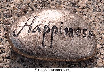 felicidad, roca