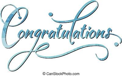 felicitaciones, caligraphy