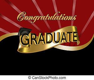 Felicitaciones graduada gráfica