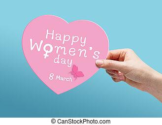 feliz, 8, womens, marzo, día