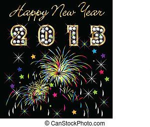 Feliz Año 2013 con fuegos artificiales
