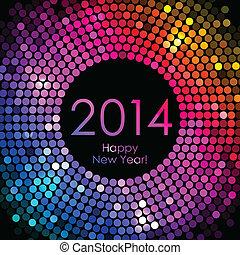 Feliz año nuevo 2014 - colorido