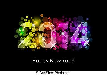 Feliz año nuevo - 2014 colorido