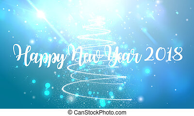 Feliz Año Nuevo 2018 antecedentes con partículas explotan