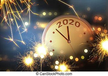 feliz, año, nuevo, 2020