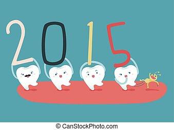 Feliz Año Nuevo de Dientes