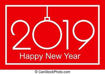 feliz, año, nuevo, o, 2019, navidad