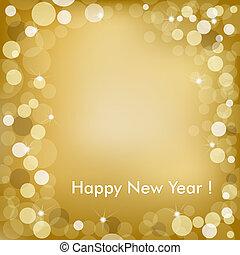 Feliz año nuevo pasado de vector dorado
