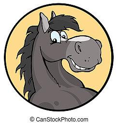 Feliz caballo de caricatura