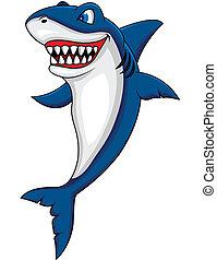 Feliz caricatura de tiburón
