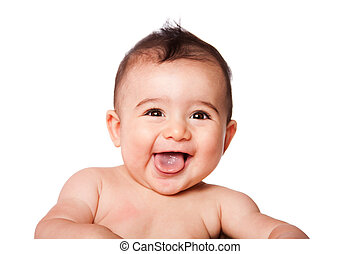 Feliz carita de bebé