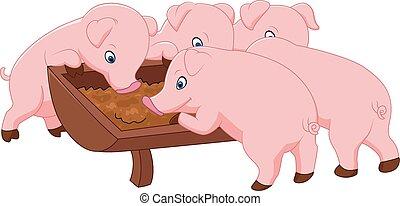 Feliz cerdo de granja