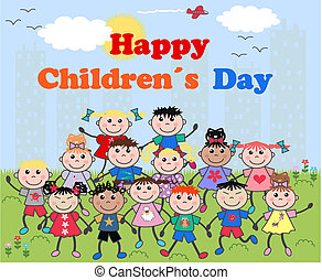 feliz, childrens, día