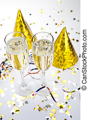 feliz, colección, año nuevo