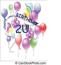 Feliz cumpleaños en blanco