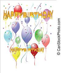 Feliz cumpleaños en globos